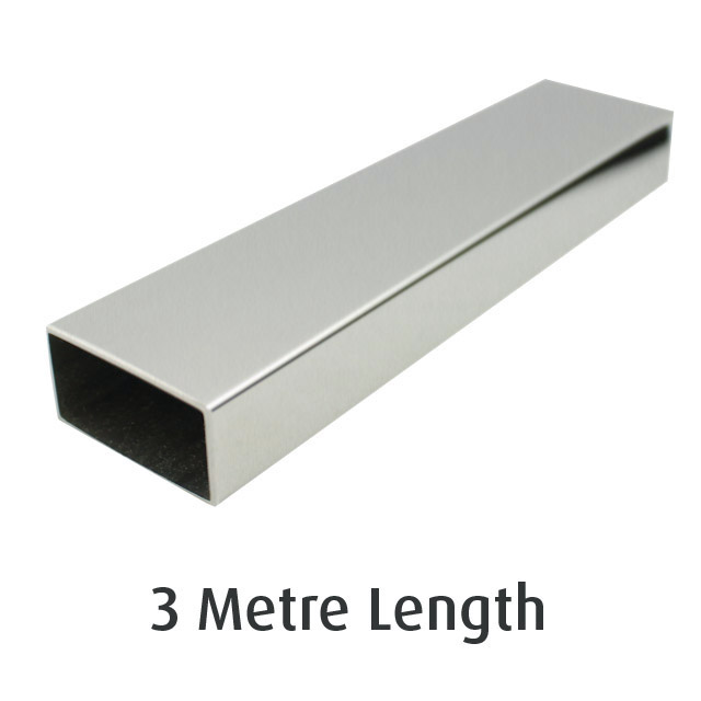Rectangle Tube 50x25 (304 Satin) - 3 metre Length